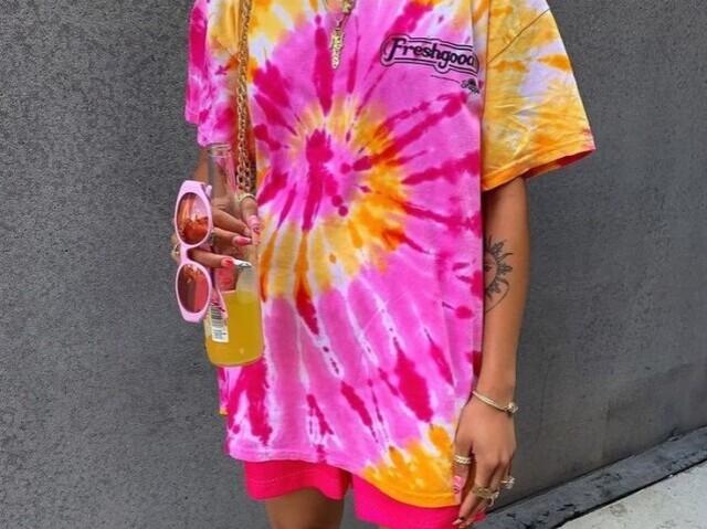 Monte sua coleção tie dye
