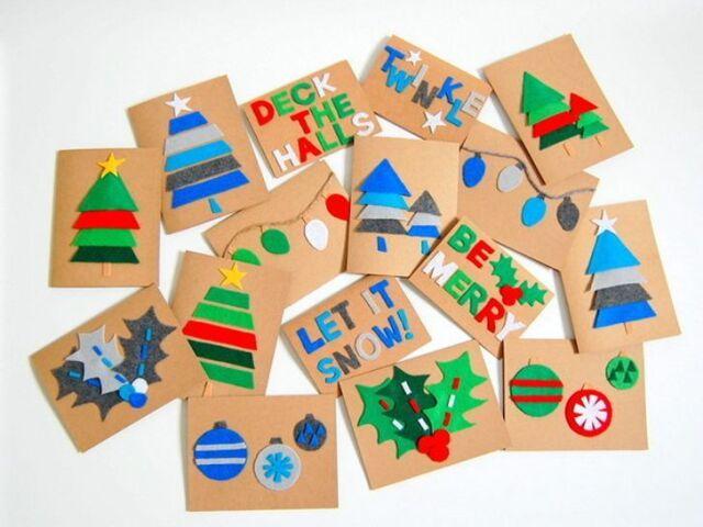 Monte seu cartão de natal: