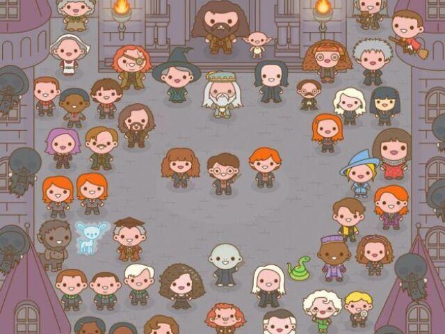 Com qual personagem de Harry Potter você se parece mais?
