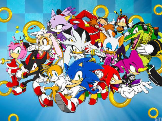 Você sabe o nome desses personagens de Sonic?