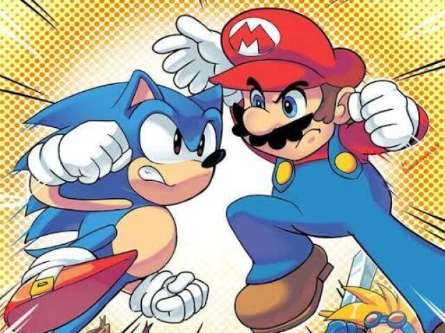 Você é mais o universo Sonic ou Mario ou os dois?