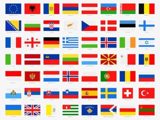 Acerte as bandeiras da Europa