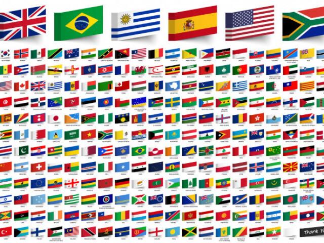 Quiz sobre bandeiras de países e regiões!