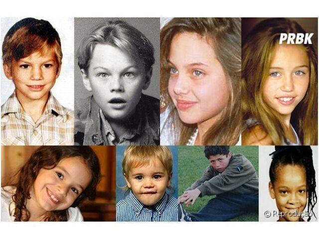 Adivinhe os famosos pela foto de quando eram crianças