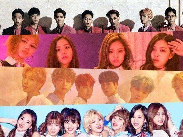 Escolha alguns membros de k-pop e falarei o nome do grupo que você vai participar e os membros!