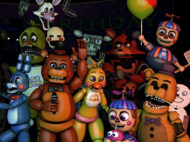 Qual dos Toy animatronics de FNAF 2 você é?