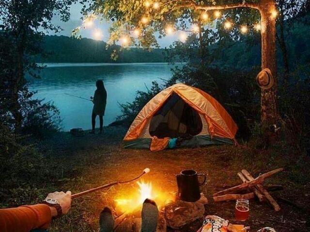 Monte seu acampamento perfeito🌄