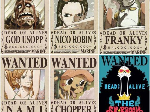 Quantas berrys sua recompensa custaria no universo de One Piece?