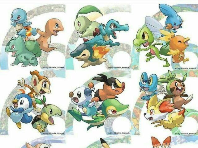 Qual seria o melhor Pokémon inicial para você? (gen 1-8)