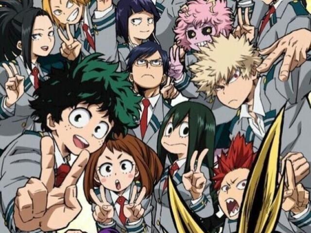 Quais são os nomes dos personagens de Boku no Hero Academia?