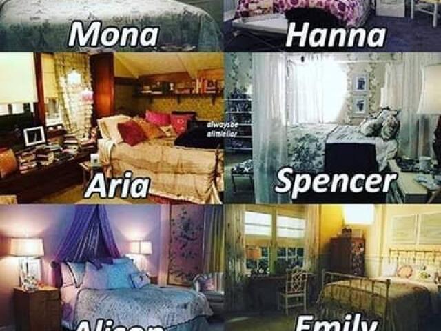 Qual quarto das meninas de Pretty Little Liars seria o seu?