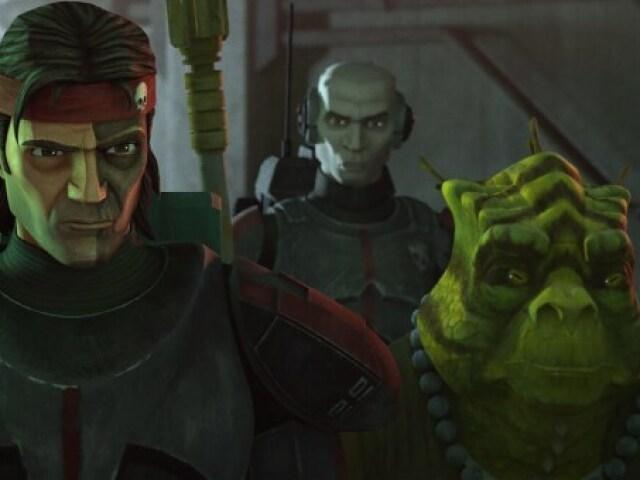 Tu sabes o nome do que apareceu em Star Wars: The Bad Batch - Episódio 7 (Personagens, organizações, armas..)