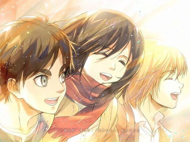 💛Quem você seria no trio principal de Attack on Titan?💛