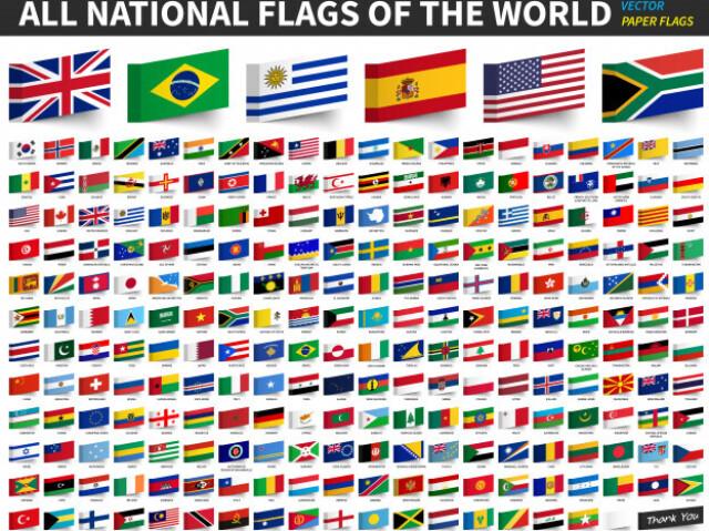 Qual a bandeira do país?