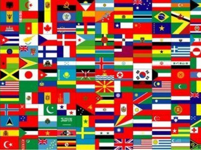 Adivinhe o país pela bandeira.