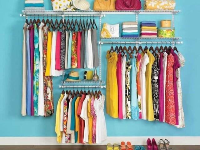 Monte seu closet colorido