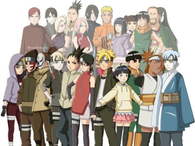 Acerte todos os personagens de Naruto/Boruto