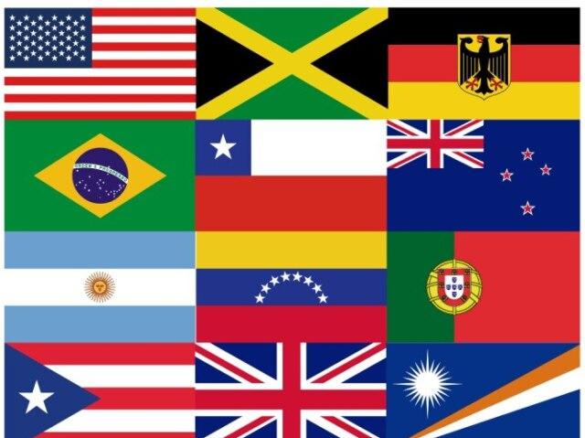 Qual é o país de acordo com a bandeira?