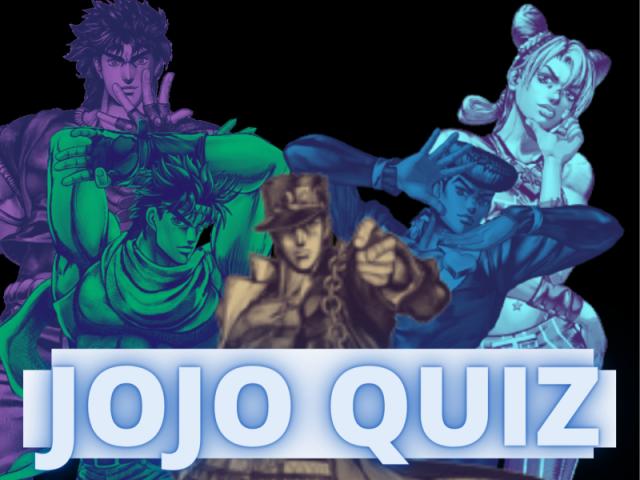 Quiz de JOJO 2 (MÉDIO)