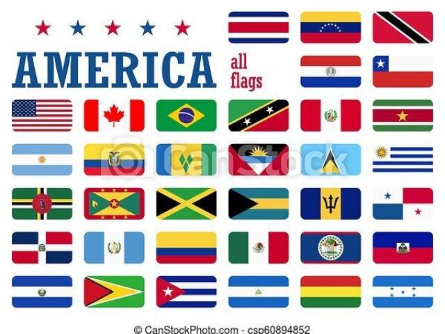 Você conhece a bandeira dos países da América?